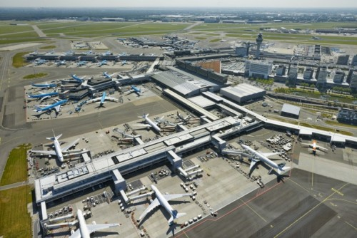 Aerial view of Schipol Airport