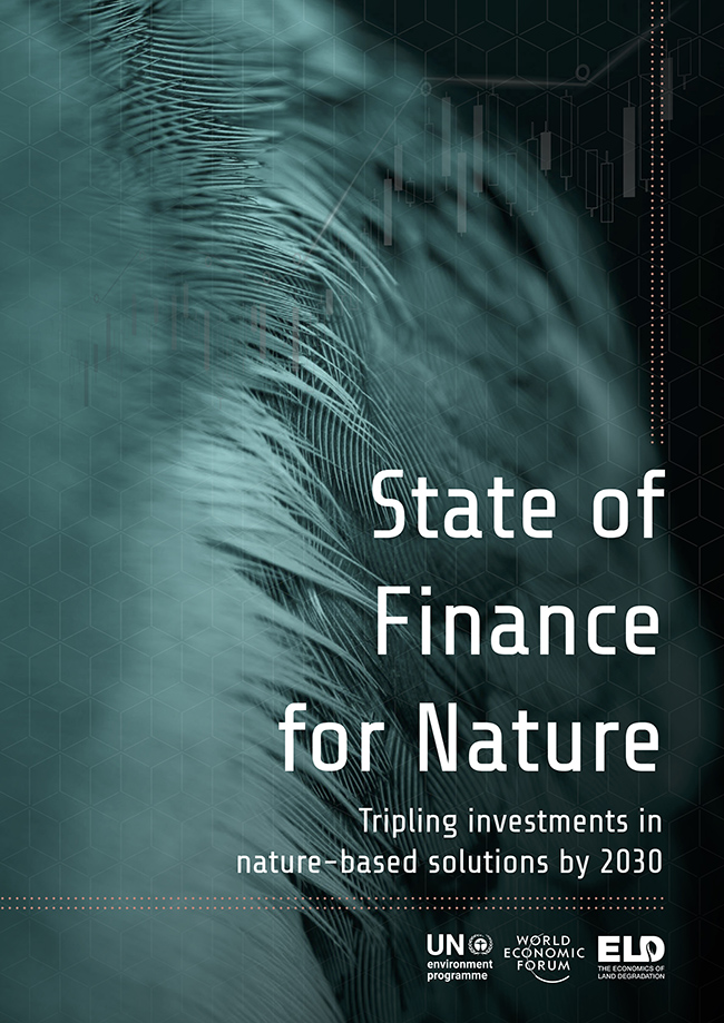 Cover of UNEP report State of Finance for Nature
