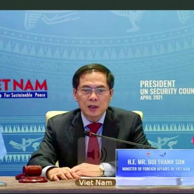 Vietnam foreign minister Bui Thank Son chairs UN Security Council debate
