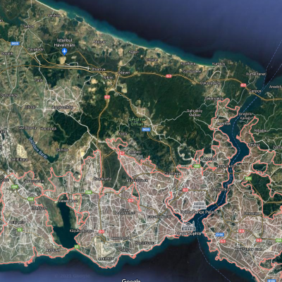 Satellite view of Istanbul