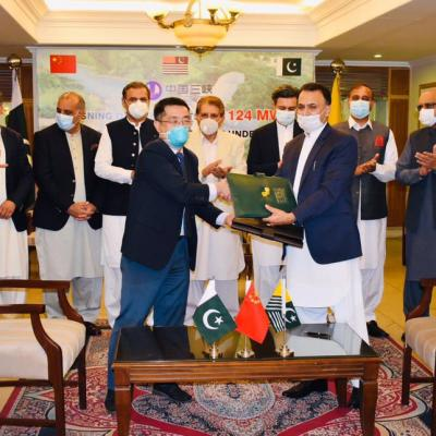 Signing ceremony for Kohala Hydropower Project