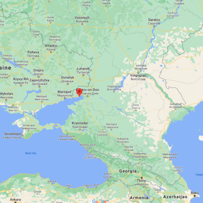 Map showing location of Taganrog