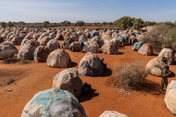 Displaced persons camp in Dinsoor Somalia 2017